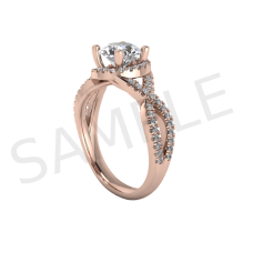 Frankfurt Diamond Ring in 18k Rose Gold