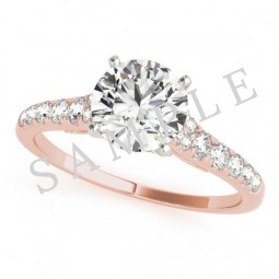 London Diamond Ring in 18k Rose Gold