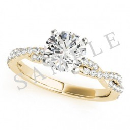 Hollywood Diamond Ring in 18k Yellow Gold
