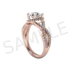 Amsterdam Diamond Ring in 18k Rose Gold