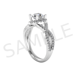 Amsterdam Diamond Ring in 18k White Gold