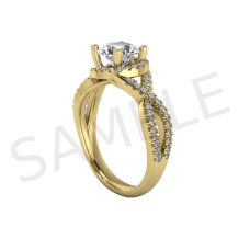 Antwerp Diamond Ring in 18k Yellow Gold
