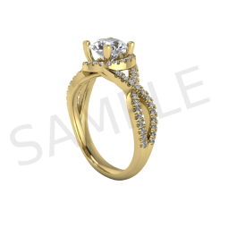 Amsterdam Diamond Ring in 18k Yellow Gold
